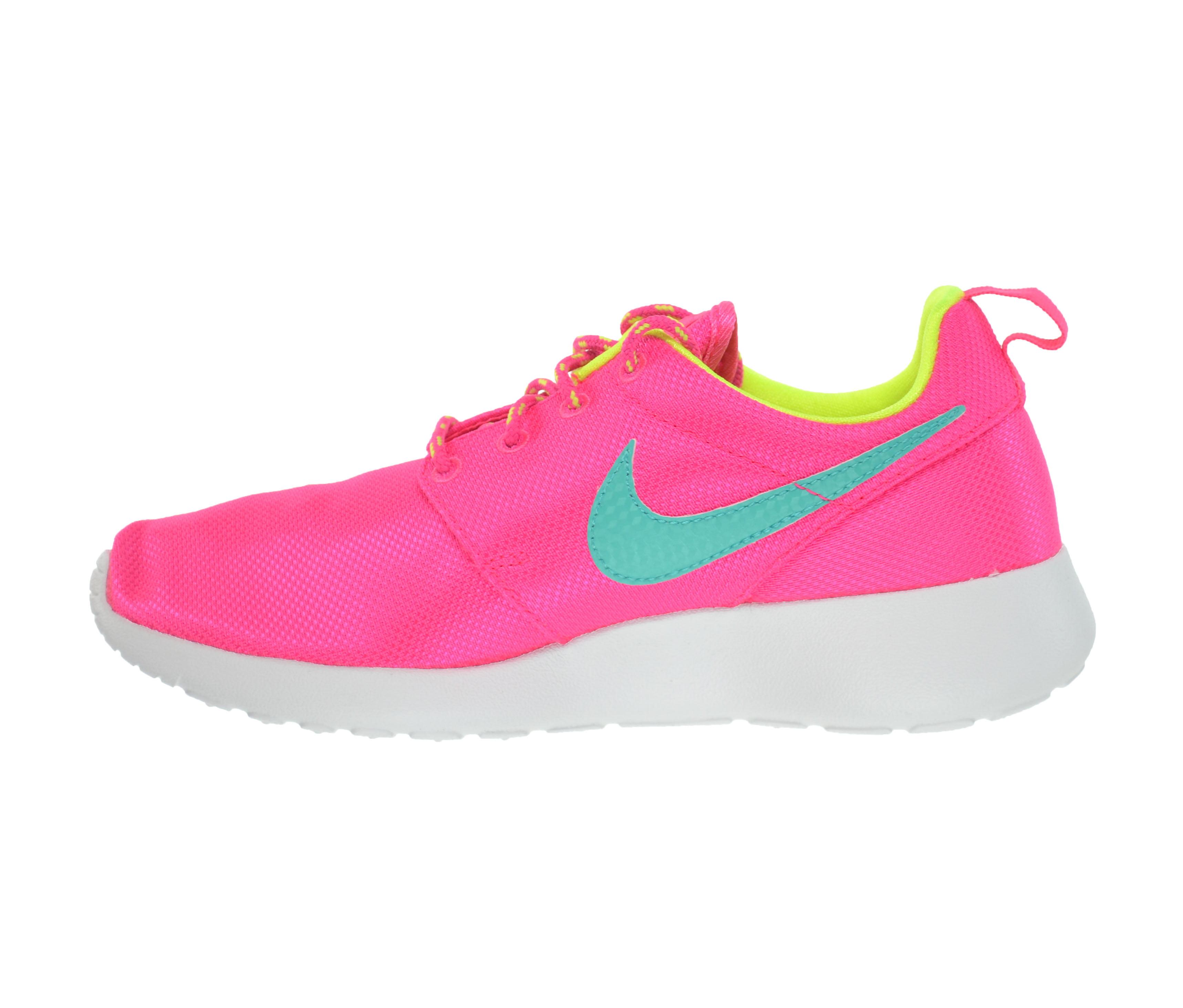 Nike Rosherun Big Kids Shoes Hyper Pink/Jade-Volt-White/Blue 599729-605 -  Walmart.com