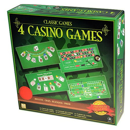 Classic Games Collection - 4 Casino Games Set - Casino Party Games