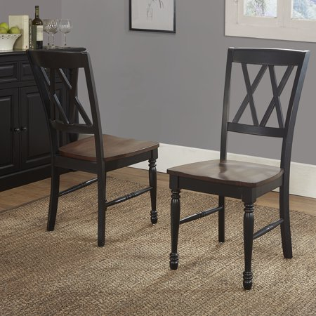 SHELBY DINING CHAIR SET OF 2 IN BLACK FINISH ()
