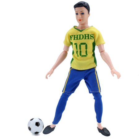 Fashion Male World Cup Footballer Dolls Clothes Doll Accessories Color:Number 18 Height:only clothes without doll - image 1 de 6