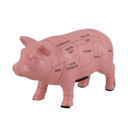 Pink Ceramic Pig Shaped Coin Bank Butcher Chart Piggy Bank 4 in.](Pink Pig Bank)