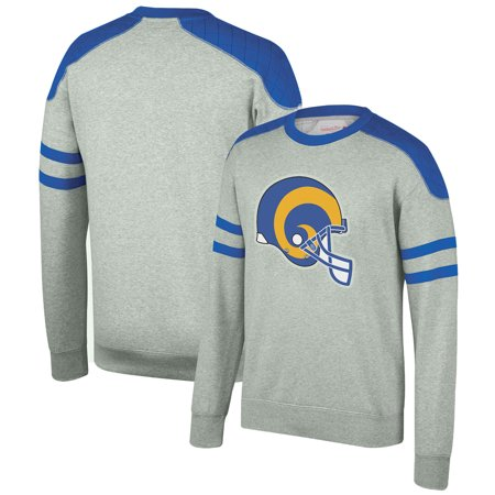 cheaper f2ad2 d2f89 Los Angeles Rams Mitchell & Ness Post Season Run Crew Sweatshirt -  Heathered Gray