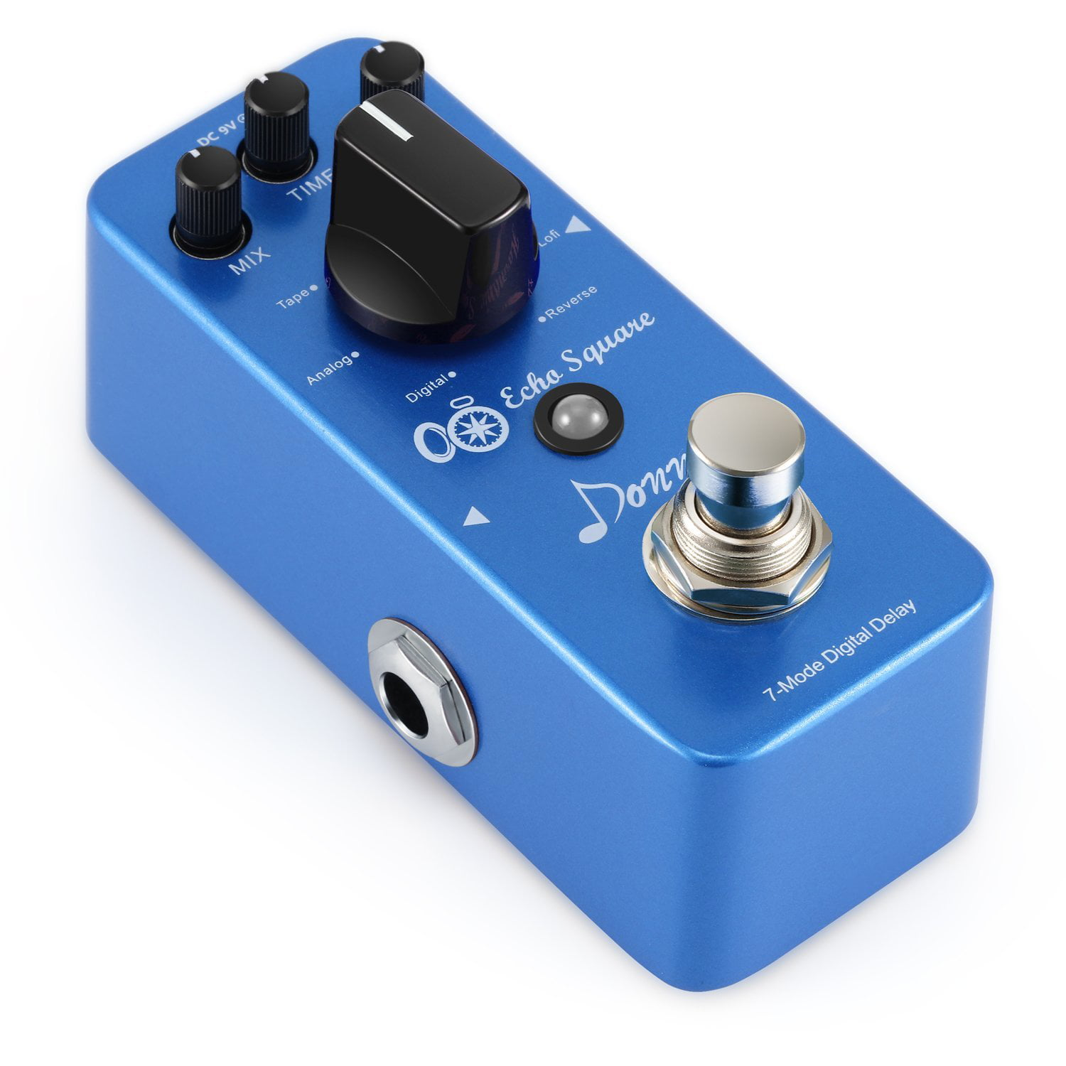 Donner Multi Digital Delay Pedal Echo Square Guitar Effect Pedal 7 Modes by