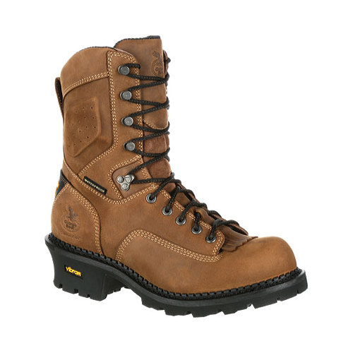 "Men's Georgia Boot GB00098 9"" CC Insul Logger Waterproof Work Boot"
