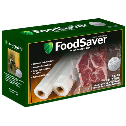 "Food Saver GameSaver 8"" x 20' Long Rolls, 2-Pack"