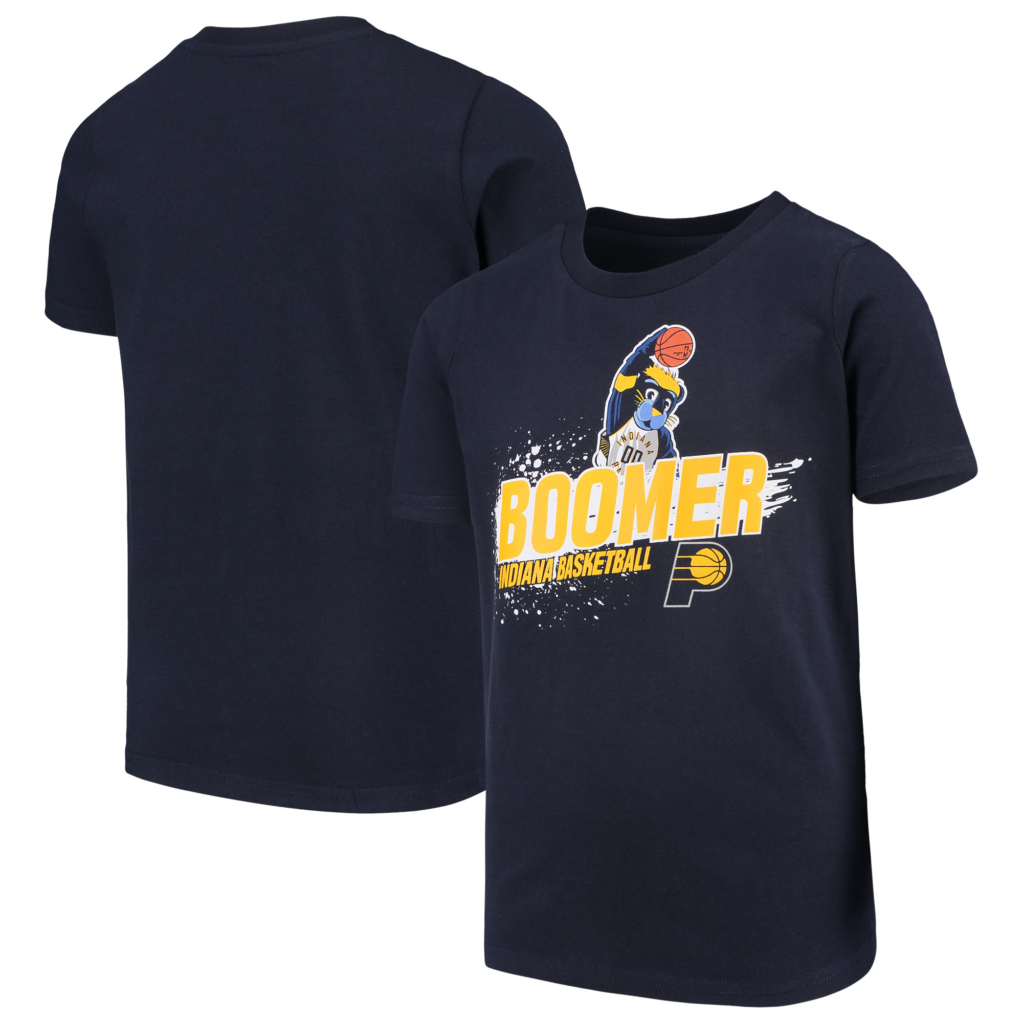 Indiana Pacers Youth Mascot Ice Break T-Shirt - Navy