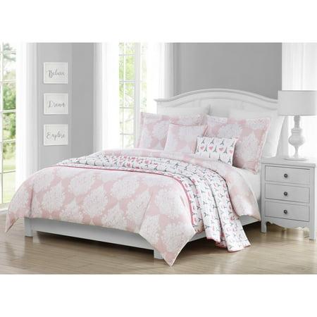 paris damask 5 piece comforter set. Black Bedroom Furniture Sets. Home Design Ideas