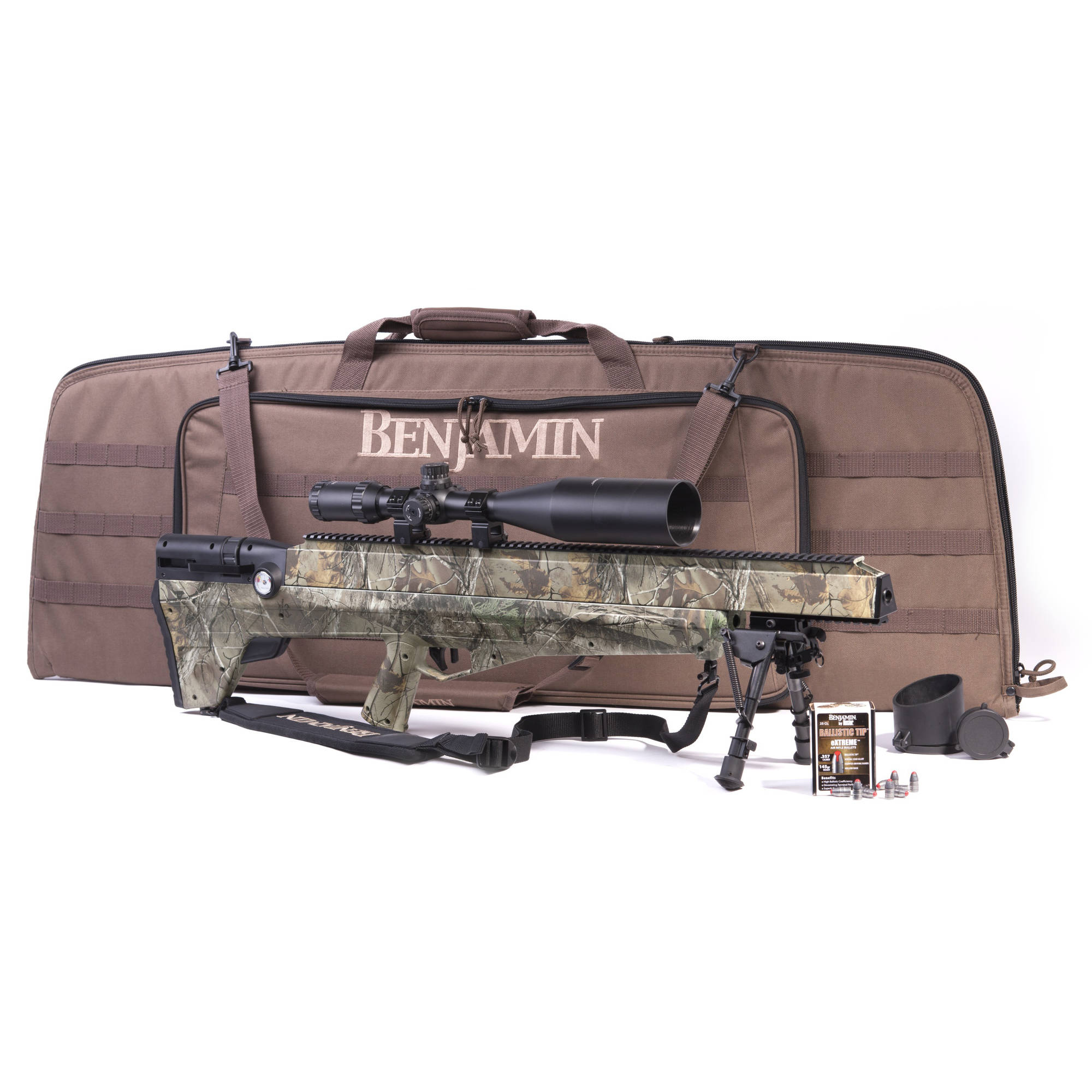Benjamin Bulldog .357 Caliber PCP Air Rifle, Realtree Camo Sportsman's Package