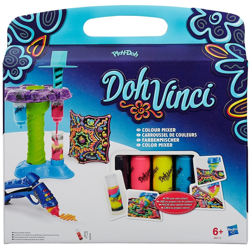 Play-doh Doh Vinci Colour Mixer, Add some nice to your DohVinci projects with rainbow 3D lines By Hasbro