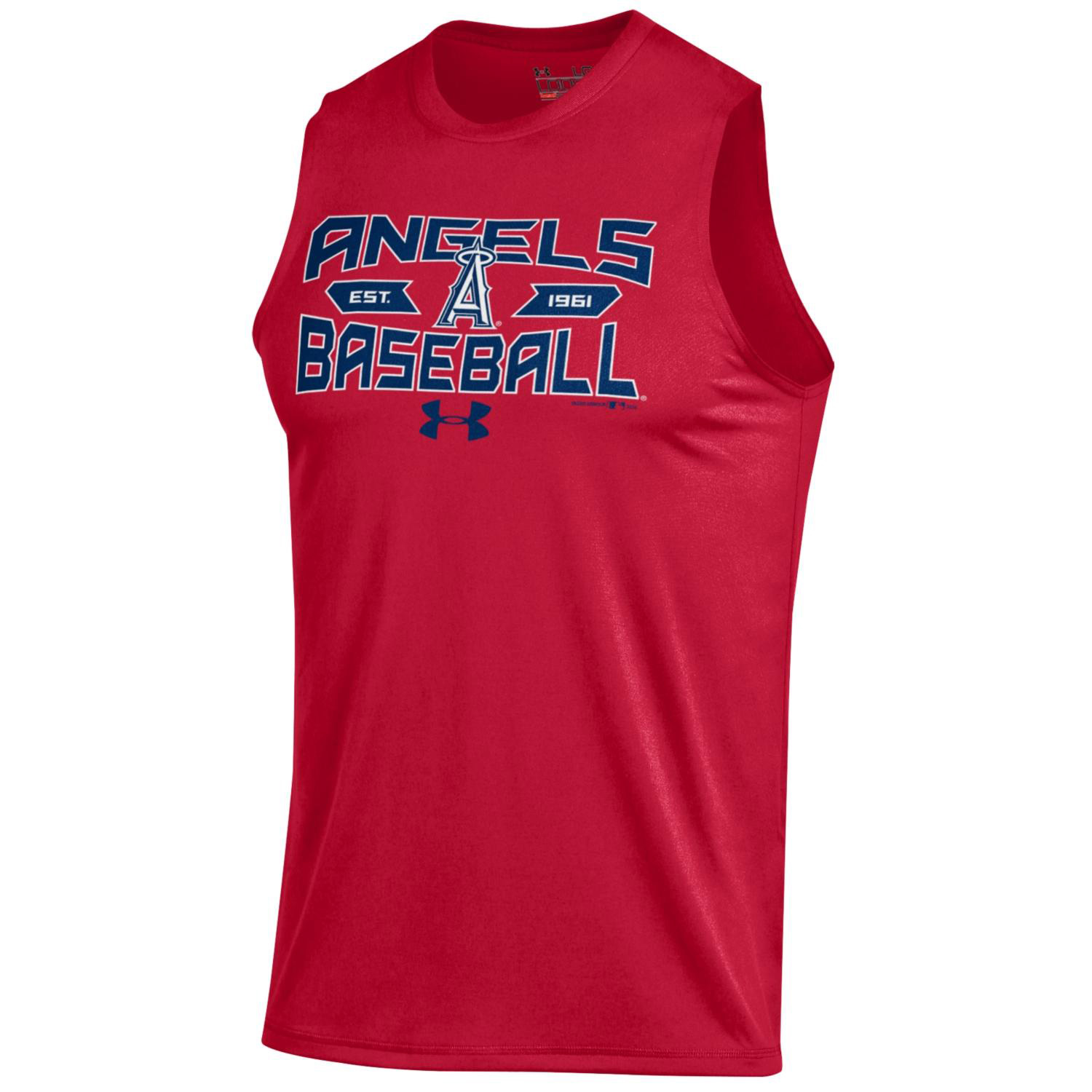 Los Angeles Angels Under Armour Tech Performance Sleeveless T-Shirt - Red