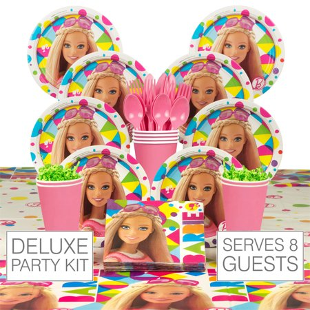 Barbie Sparkle Birthday Party Deluxe Tableware Kit - Party - Barbie Birthday Party