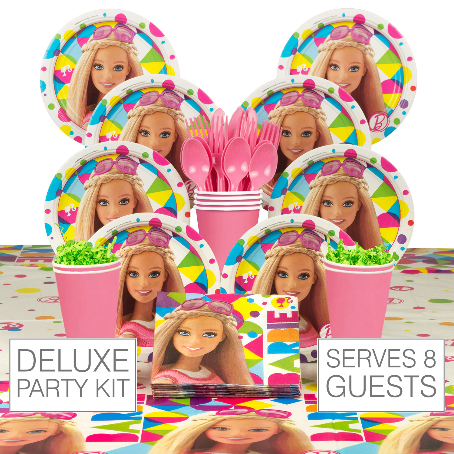 Barbie Sparkle Birthday Party Deluxe Tableware Kit - Party Supplies