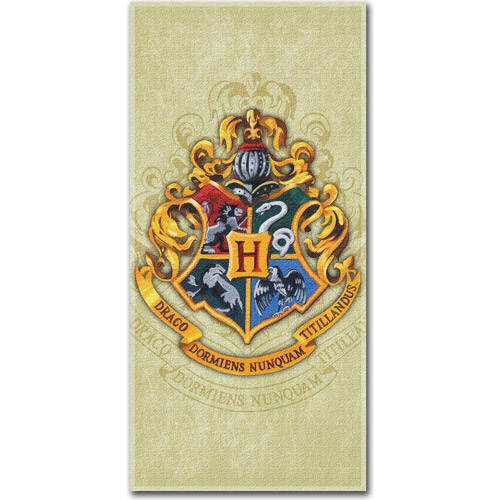 Harry Potter Parchment Crest Beach Towel