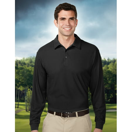 Tri-Mountain Performance Endurance Long Sleeve K107LS Golf Shirt, 2X-Large,