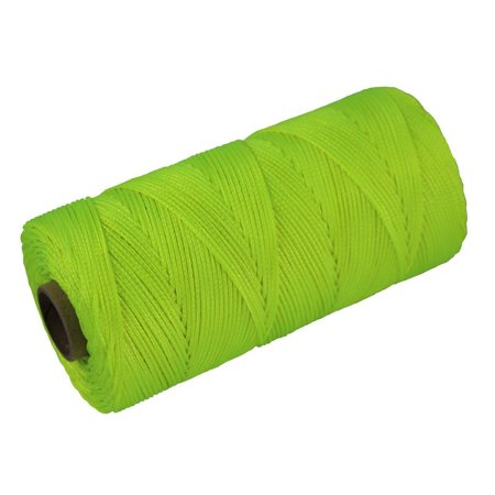 SGT KNOTS Braided Nylon Mason Line #18 - 250, 500, or 1,000 feet (Florescent Yellow -