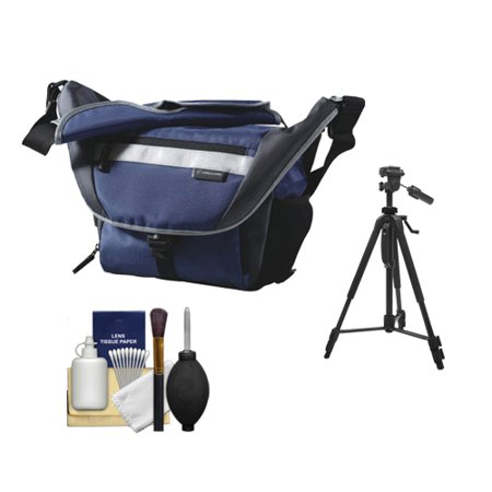 Vanguard Sydney 22 Messenger Digital SLR Camera Bag/Case (Blue) + Tripod Kit for Canon, Nikon, Olympus, Panasonic, Fuji & Sony Alpha Cameras