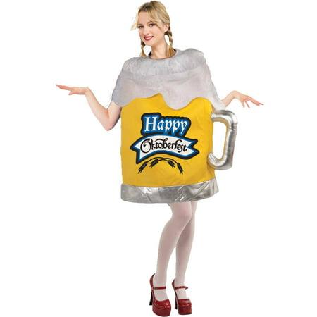 Happy Octoberfest Beer Mug Women's Adult Halloween Costume, One Size, 8-14