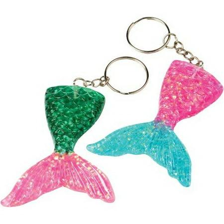(Price/Pack)U.S. Toy KC408 Mermaid Tail Keychains/8-Pc (Mermaid Keychain)