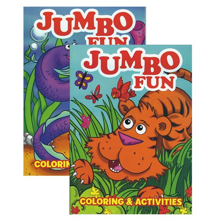 Jumbo fun coloring activity book case pack of 48 Coloring book walmart