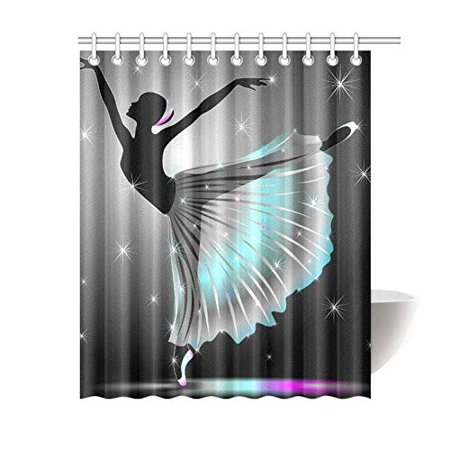 MKHERT Classical Dancer Shower Curtain Bath Waterproof Fabric Polyester Curtains 60x72 Inch