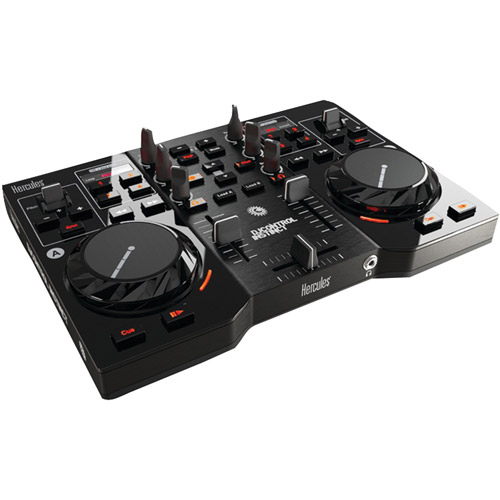 Hercules DJ 4780730 Control Instinct USB DJ Controller with Audio Outputs