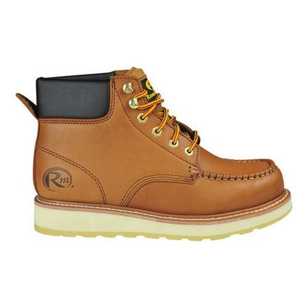 (Men's 955 6 Padded Collar Moc Toe Work Boot)