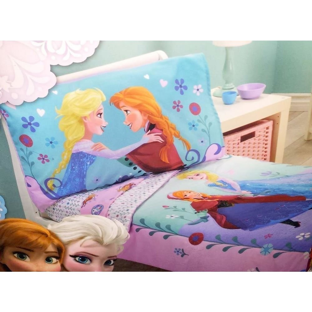 Disney 9011416 Frozen Toddler Bed Set Pink 4 Piece