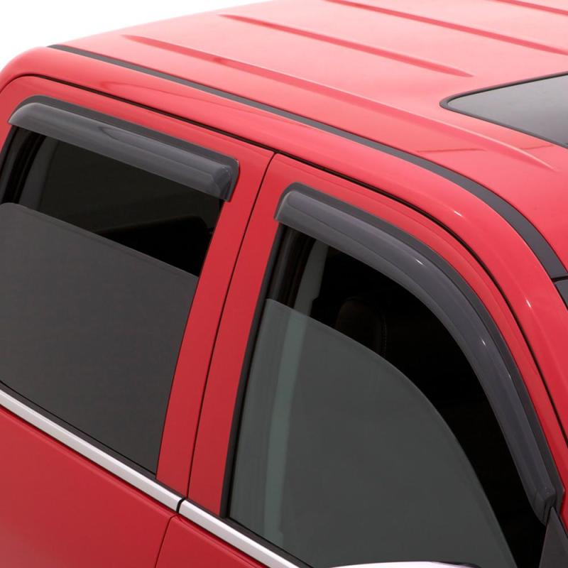 AVS 15-18 Chevy Silverado 2500 Ext. Cab Ventvisor Outside Mount Window Deflectors 4pc - Smoke