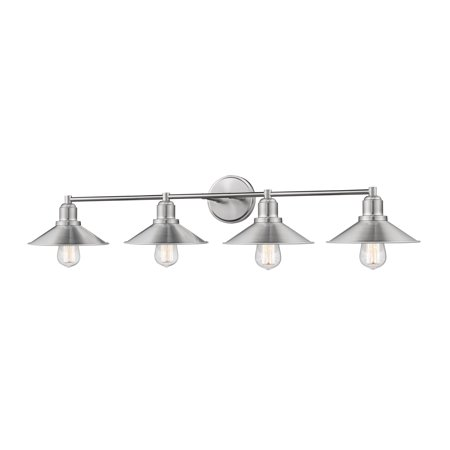 New zlite Product  Casa Collection 4 Light Vanity in Brushed Nickel Finish Sold by