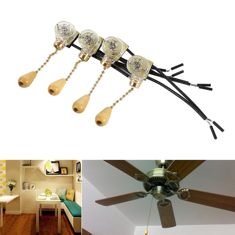 4pcs Universal Home Ceiling Fan Lamp Wall Light