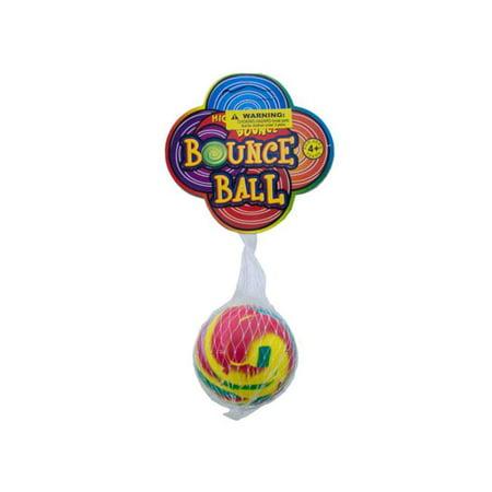 Bulk Buys OC261-96 Swirly Super Bounce Ball - Bouncy Balls Bulk