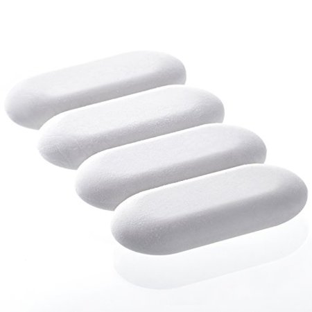 Emraw White Oval Soft Pencil Mark Eraser Rubber for School, Office, Art, Drawing (4-Pack) - Pencil Eraser