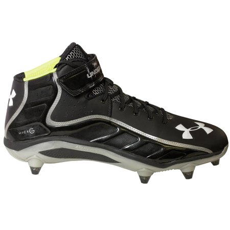 Mid Football Shoes (Under Armour FIERCE HAVOC MID D Mens Football Shoe BKSL)