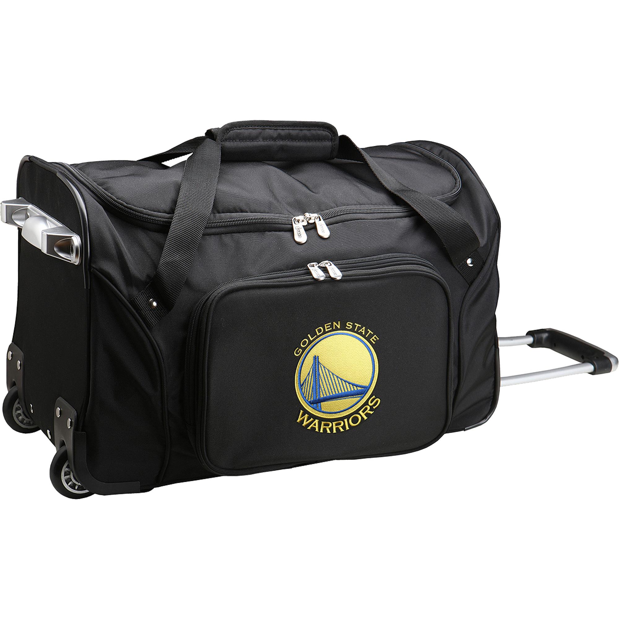 "Golden State Warriors 22"" 2-Wheeled Duffel Bag - Black - No Size"