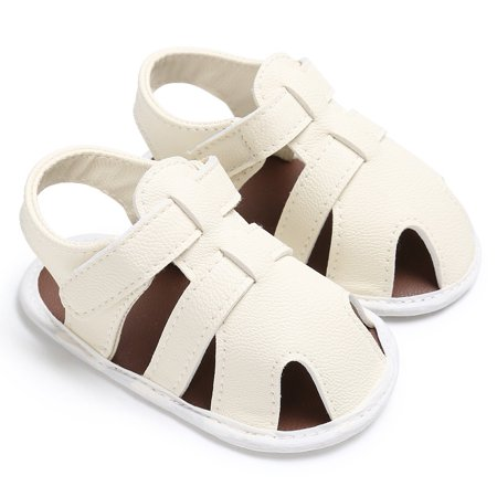 832ee1463 Kids Baby Boys Hollow Sandals Soft Soled PU Leather Casual Summer Shoes  White 12-18M - Walmart.com