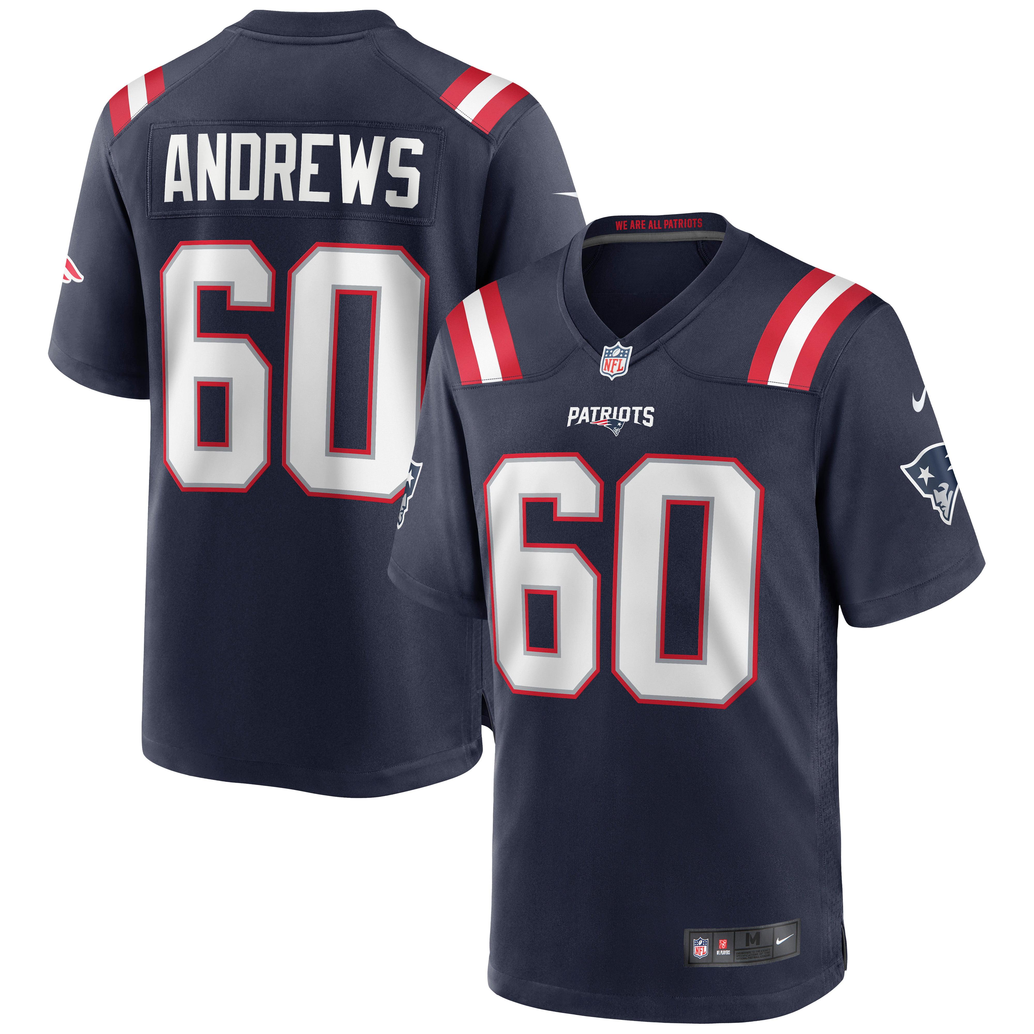 David Andrews New England Patriots Nike Game Jersey - Navy - Walmart.com