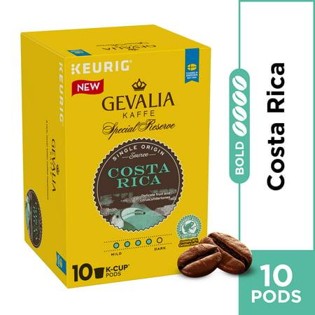 Gevalia Kaffe Medium-Dark Roast Arabica Bean Costa Rica Special Reserve K-Cup Pods, Caffeinated, 10 ct - 3.46 oz Box