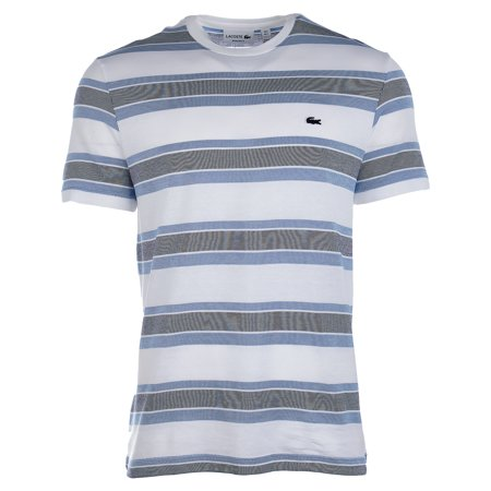 Lacoste CREW NECK STRIPED JACQUARD JERSEY T-SHIRT - Mens