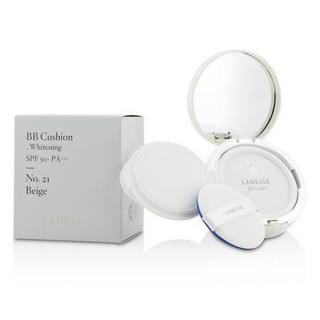 Laneige BB Cushion Whitening SPF 50 - # 21 Beige 2 x 0.5 oz Foundation &
