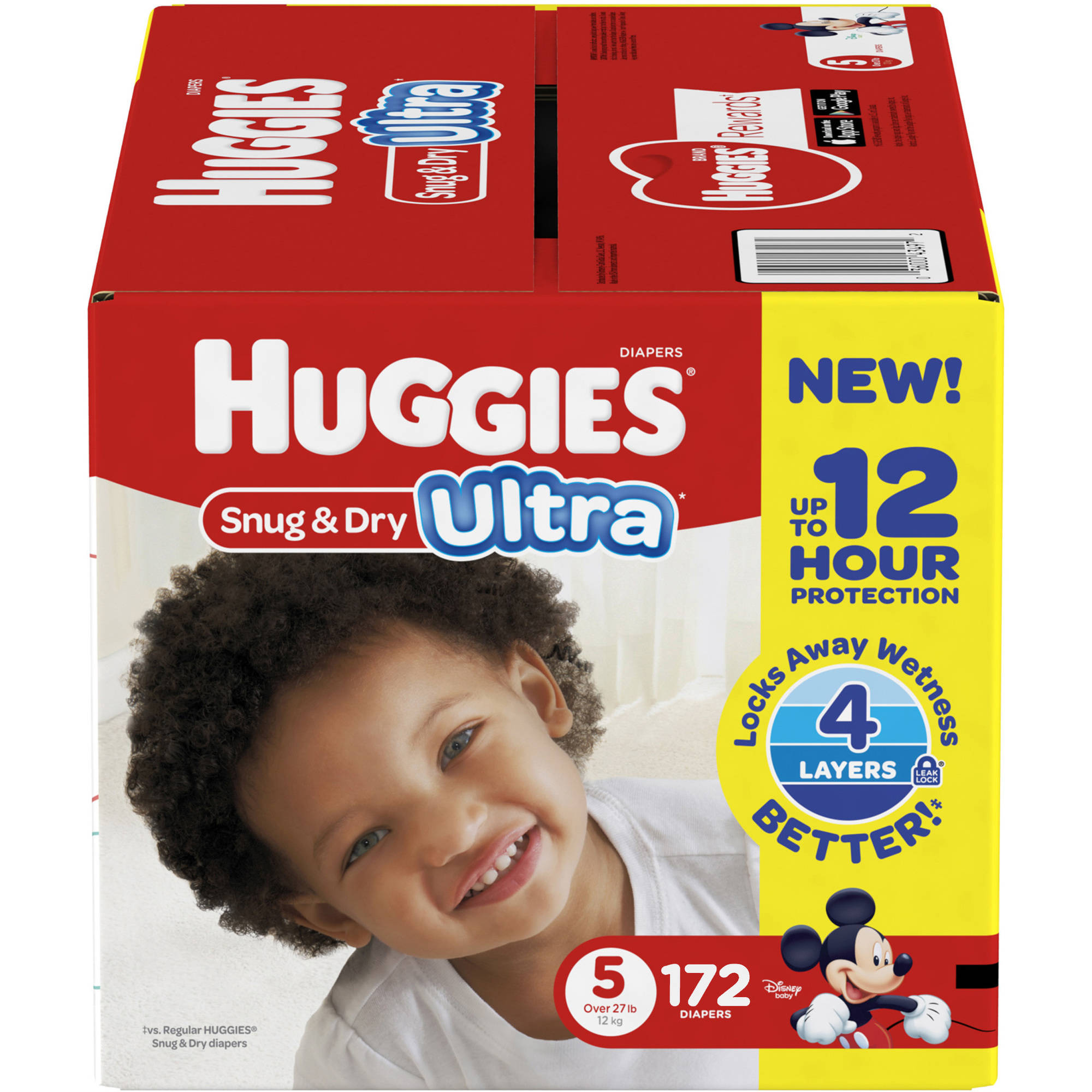 HUGGIES Snug & Dry Ultra Diapers, Size 5 (Choose Diaper Count)