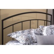 Hawthorne Collections Twin Metal Spindle Headboard in Textured Black