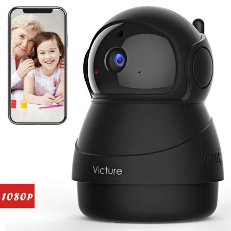 Victure 1080P FHD WiFi IP Camera Indoor Wireless Security Camera Motion Detection Night Vision Home Surveillance Monitor 2-Way Audio