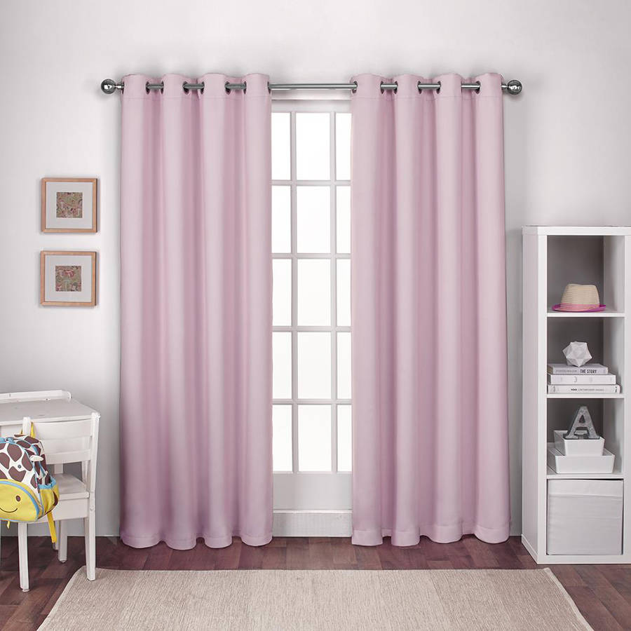 Exclusive Home Kids Textured Woven Blackout Grommet Top Window Curtain Panel Pair, Bubble... by Exclusive Home