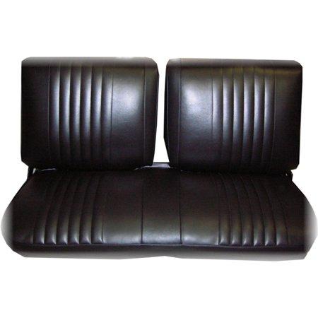 Front Bench Seat Upholstery - PUI 73XS10B 1973-1974 Nova Front Bench Seat Upholstery, Black