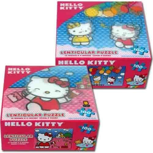 Hello Kitty Lenticular Puzzle 100-Piece Painting by