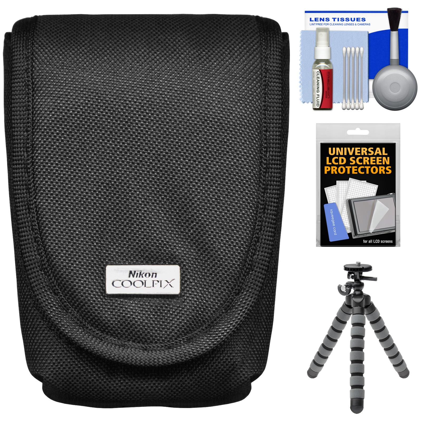 Nikon Coolpix 5879 Digital Camera Case with Flex Tripod + Accessory Kit for AW110, AW120, P340, S01, S02, S31, S32, S3500, S5200, S5300, S6500, S6800, S810C, S9500, S9700