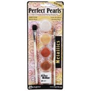 Perfect Pearls Pigment Powder Set Metallics 4Colors And Acce