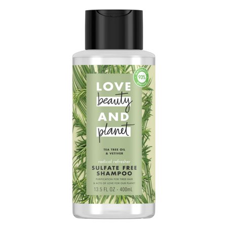 Love Beauty And Planet Radical Refreshner Clarifying Shampoo Tea Tree Oil & Vetiver 13.5 (Best Tea Tree Oil Shampoos)