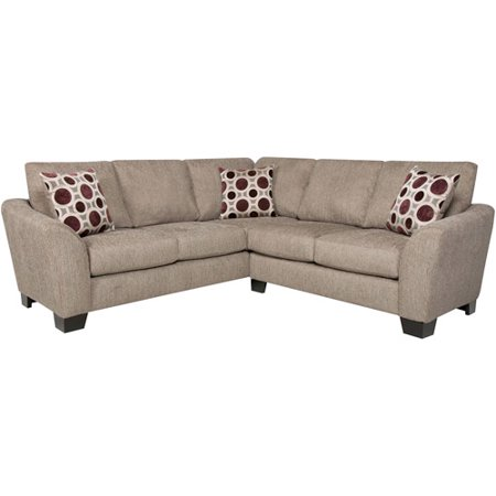 Albany blair sectional sofa pewter chen walmartcom for Sectional sofa in walmart