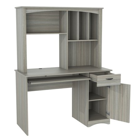 Inval BANDYA Smoke Oak Workstation with Hutch